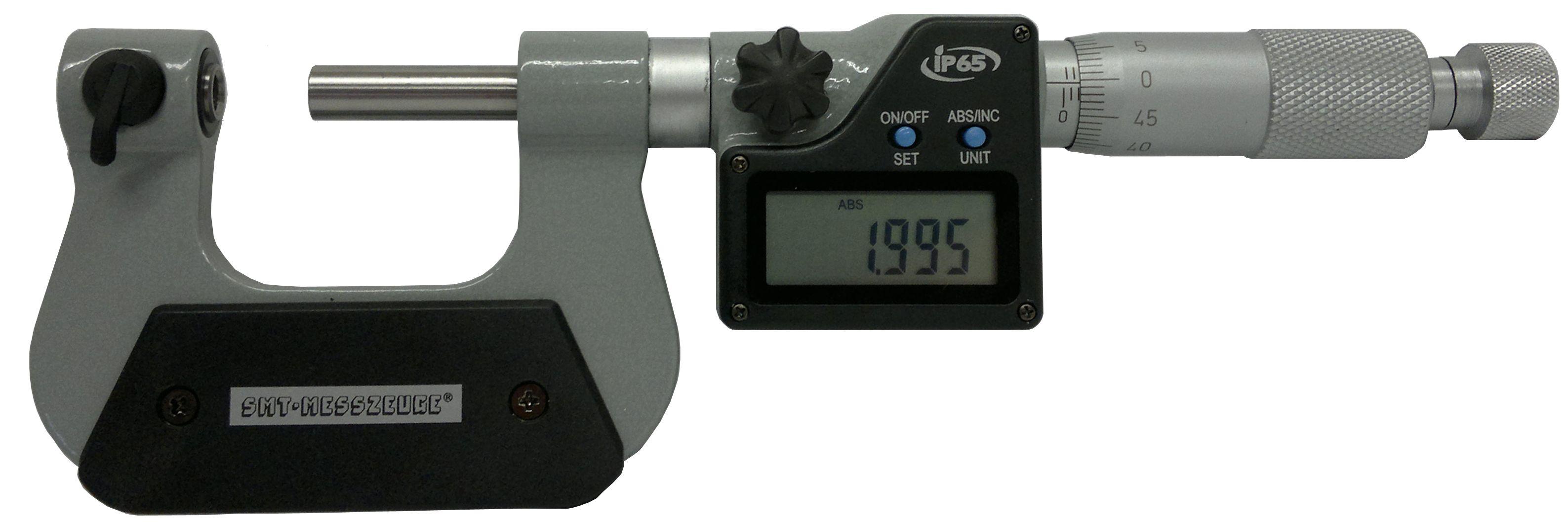 digital spezial mikrometer 25 50 mm mit 7 paar messeins tzen ip65 smt messzeuge. Black Bedroom Furniture Sets. Home Design Ideas