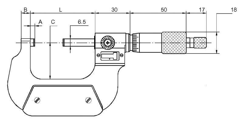 Mikrometer mit Zählwerk Ablesung 0,01 mm Bügelmessschraube